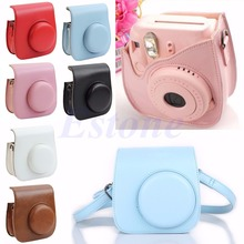 F98 2016  newestFree Shipping Leather Camera Shoulder Strap Bag Protect Case Pouch For Fujifilm Instax Mini 8 S117 free shipping(China (Mainland))