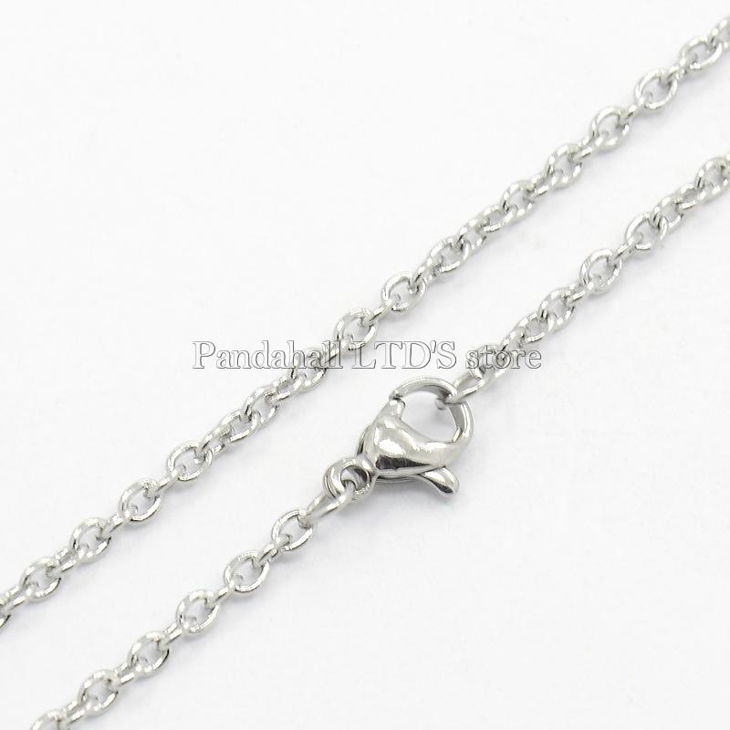 304 Stainless Steel Cable Chain Necklaces, Lobster Claw Clasps, Color, 18.9 inch - PandaHall LTD's store