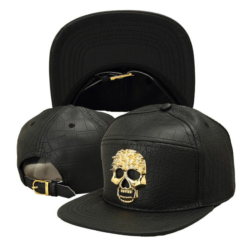 New Hot Sale Skull Alloy Hip Hop Baseball Cap Breathability Swag Hats For Men And Women Snapback Gorras Bone Faux Leather CapsОдежда и ак�е��уары<br><br><br>Aliexpress