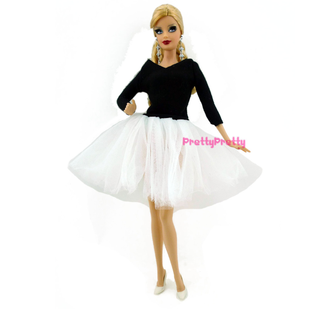 three Set Differernt Color Style Ballet Skirt Princess Costume Outfit  For Barbie Doll Lady Reward Finest Reward Child Toys