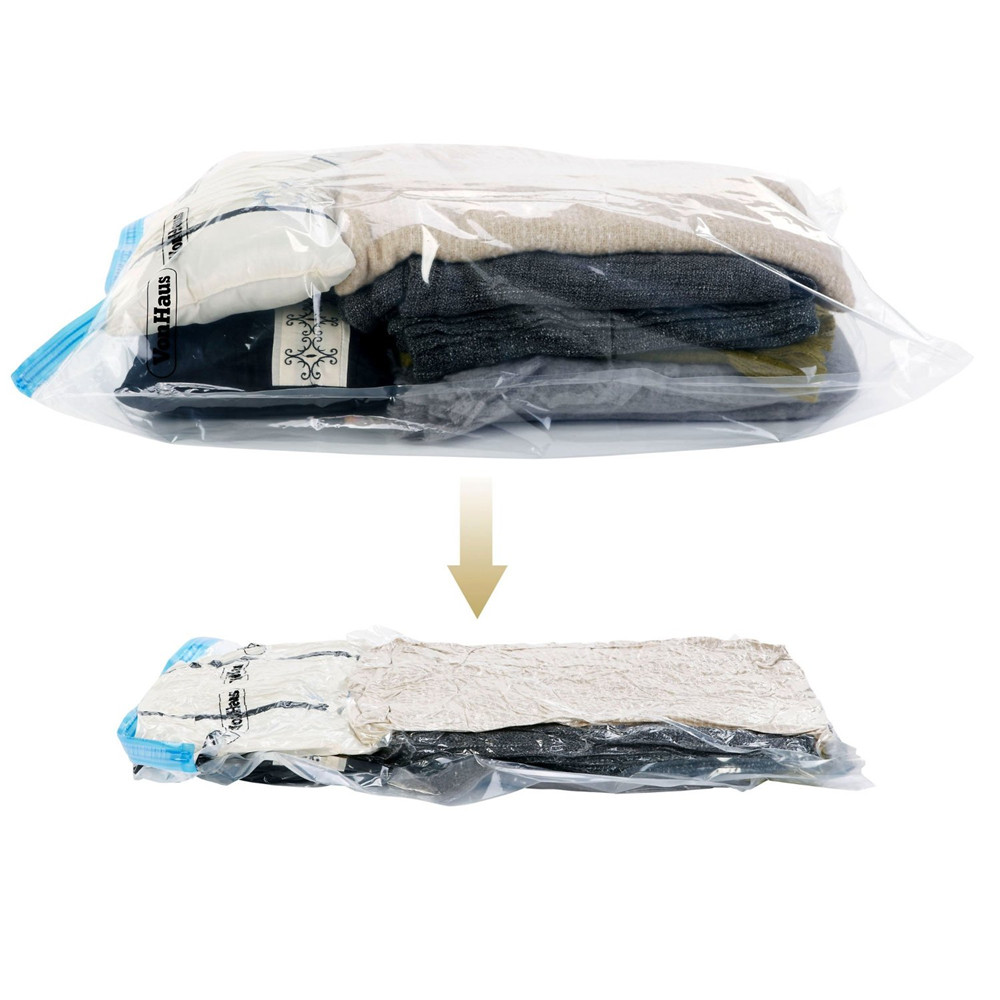 Use Without Air Pump 37*53 New Design Space Saver Travel Compress Vacuum Roll-Up Storage Bag()