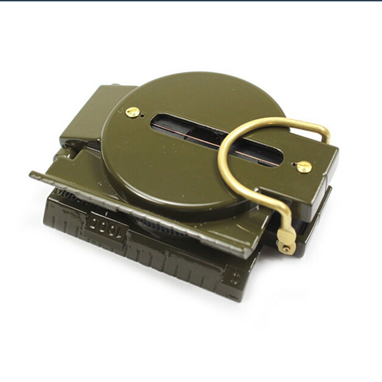 New Design Lensatic Portable Folding American Style Army Marching Metal Steel Compass Multi Function Military Luminous Compass(China (Mainland))