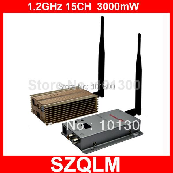wireless transmitter and receiver wireless AV sender  1.2G 15CH 3000mW  wireless device<br><br>Aliexpress