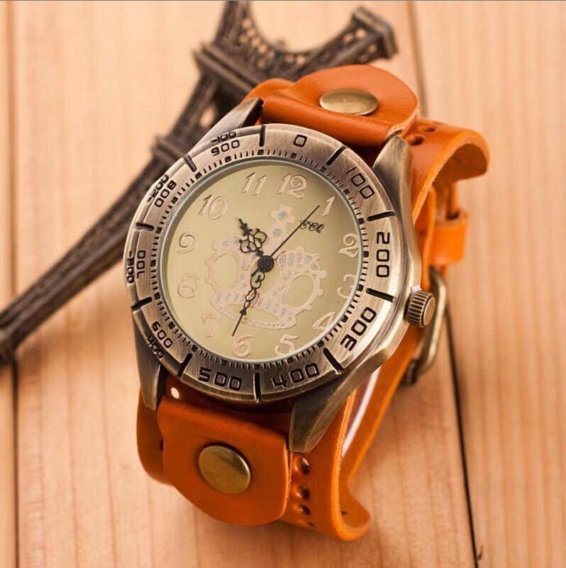 Punk Retro Men Wristwatch New Fashion Casual Watches Sports Analog Watches Genuine Leather Dress Watches Men Quartz Watch LZ161<br><br>Aliexpress