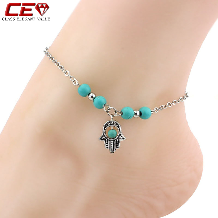 Silver Anklets For Women Foot Chain Bohemian Cross Tortoise Ankle Bracelet Enkelbandje Barefoot Sandals Jewelry Chaine Cheville(China (Mainland))