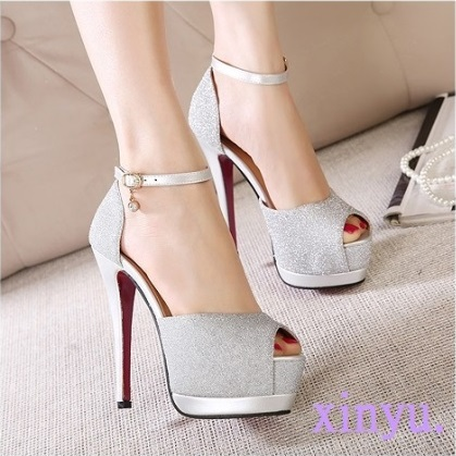 Free shipping, the new 2015 fish mouth high-heeled shoes, fine with sandals, waterproof nightclub high-heeled shoes.<br><br>Aliexpress
