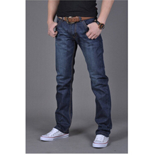 Free shipping 2016 Spring new Korean explosion models brand hot sale popular youth Commerce Slim Straight Jeans Cheap wholesale(China (Mainland))