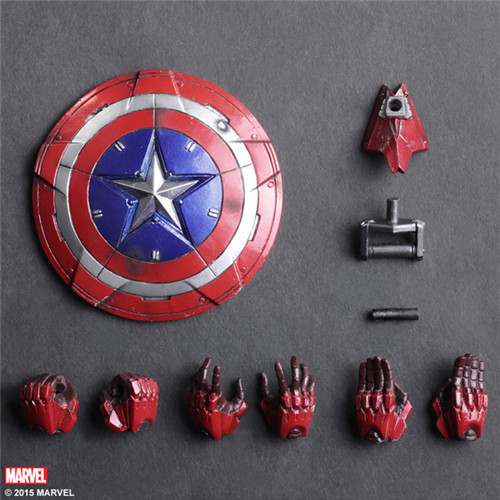 The Avengers Play Arts PA Captain America motion figurs Marvel toys Tremendous Marvel movable toys figures