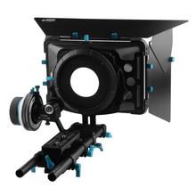 Buy FOTGA Matte Box+DSLR Follow Focus A/B Hard Stops+15mm Rail Rod Baseplate Rig Kit A7II A7R II A7S II 5DIII BMCC BMPCC D7100 D3200 for $312.55 in AliExpress store