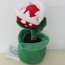 "1 XNintendo Super Mario bros 8"" Flower Decoration 8in Piranha Plant Wholesale(China (Mainland))"