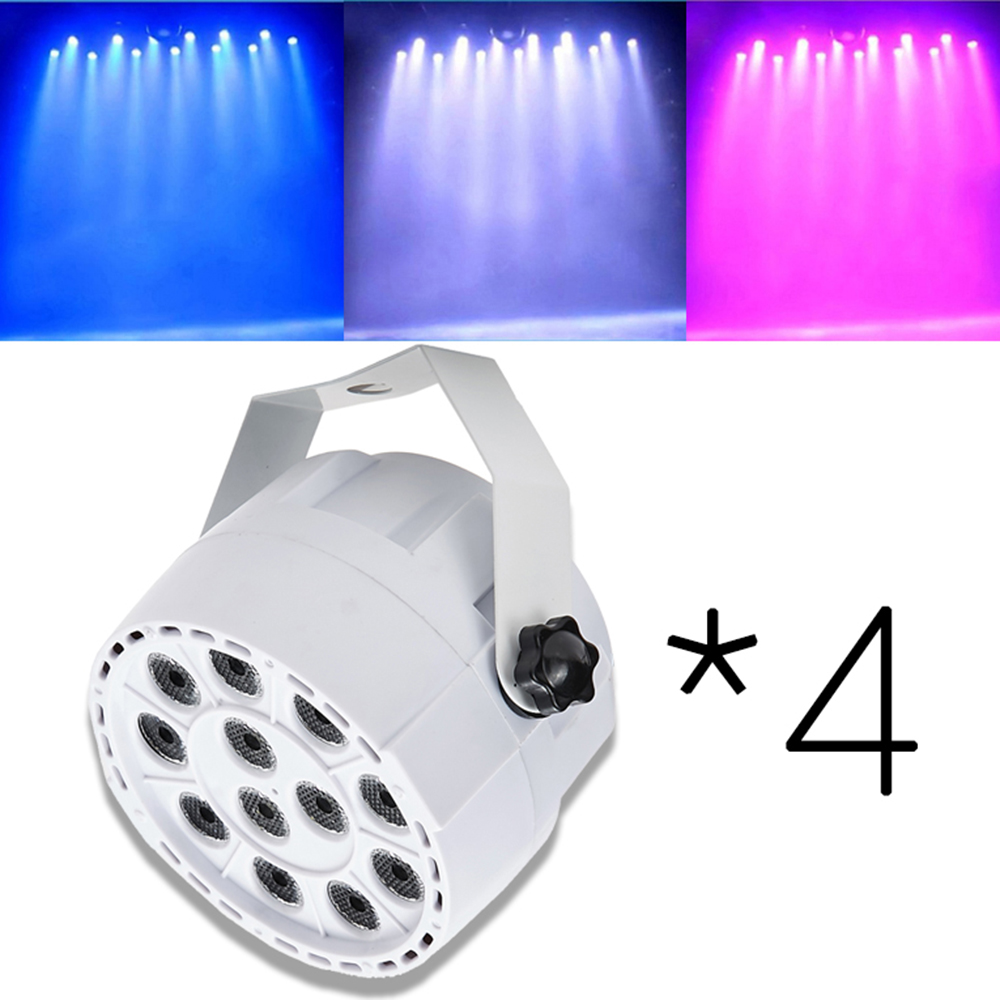4PCS *12LEDs RGBW Color Mixing Par Stage Light Sound Activate DMX For Disco Party DJ Projector Lighting Effect(China (Mainland))