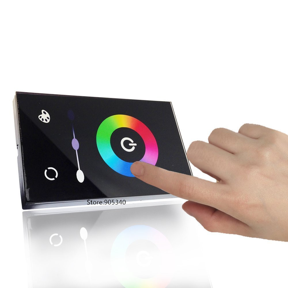TM08U Full color RGB Touch Panel Controller DC12-24V12A Wall mounted  3Channel Switch LED Dimmer control for 5050 3528 RGB strip<br><br>Aliexpress