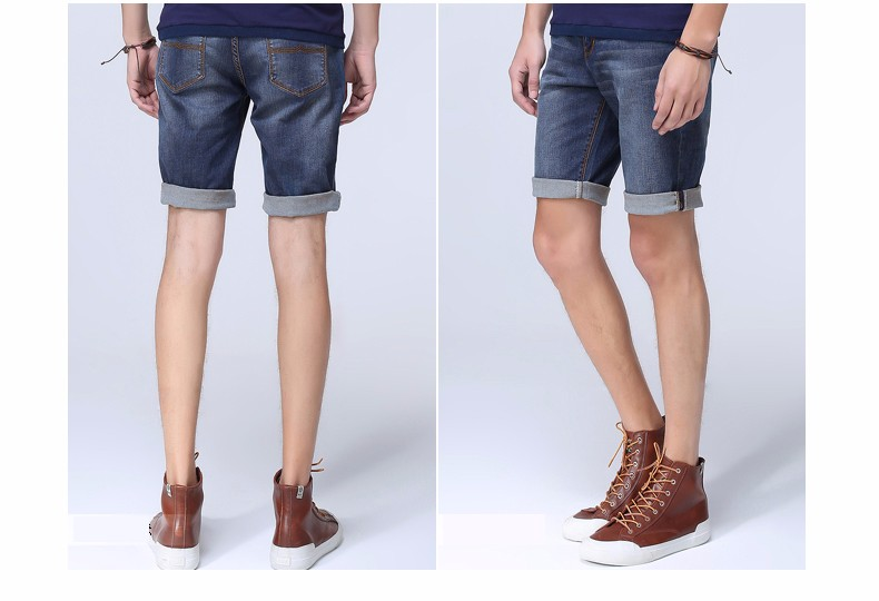 Ess markl for summer thin denim shorts male all-match knee-length pants classic pants mid waist straight pants