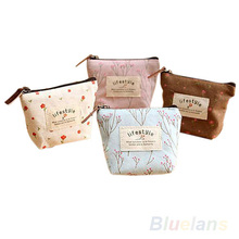 Women's Lady Small Canvas Purse Zip Wallet Coin Key Holder Case Bag Handbag  12VN