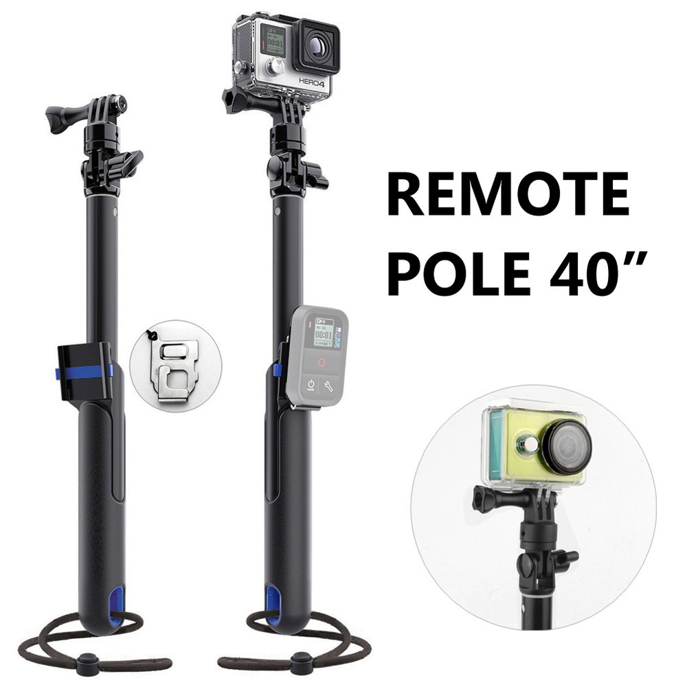 Brand New Large Size Extendadle POV Remote Pole 40'' inch Monopod Handheld Stick for GoPro Hero 4 3+ 3 2 SJ4000 Xiaomi Yi(China (Mainland))