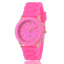 Fashion Geneva relojes mujer 2015 Quartz watch Women watches luxury brand Wristwatch Silicone relogio feminino Dress