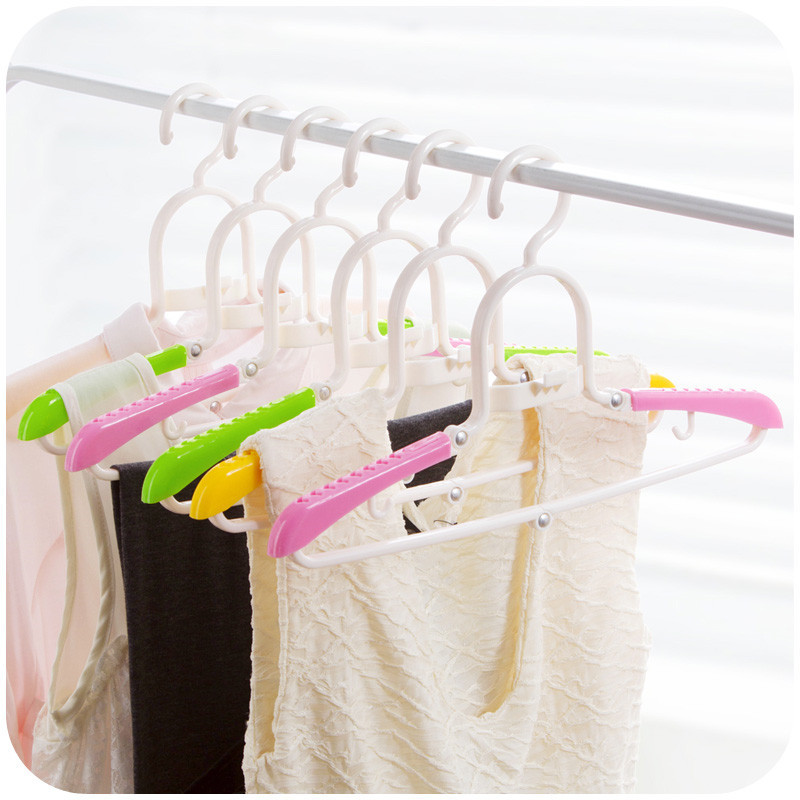 Plastic Outdoor Folding Clothes Hangers Anti Slip Clothing Dry Rack Travel Foladable Hangers For Clothes Skirts Free Shipping(China (Mainland))
