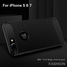 Soft Silicone Anti-knock Back Cover Case For iPhone 5S 5 SE 6 6S Phone Bag Ultra-thin Coque Capa Fundas For iphone 7 7 Plus(China (Mainland))