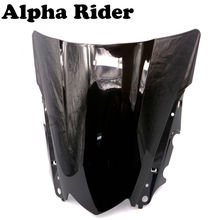 Buy Motorcycle Windshield Windscreen Double Bubble Yamaha YZF R25 2014 2015 2016 R3 15-16 Black Windproof Front Screen Deflector for $14.47 in AliExpress store