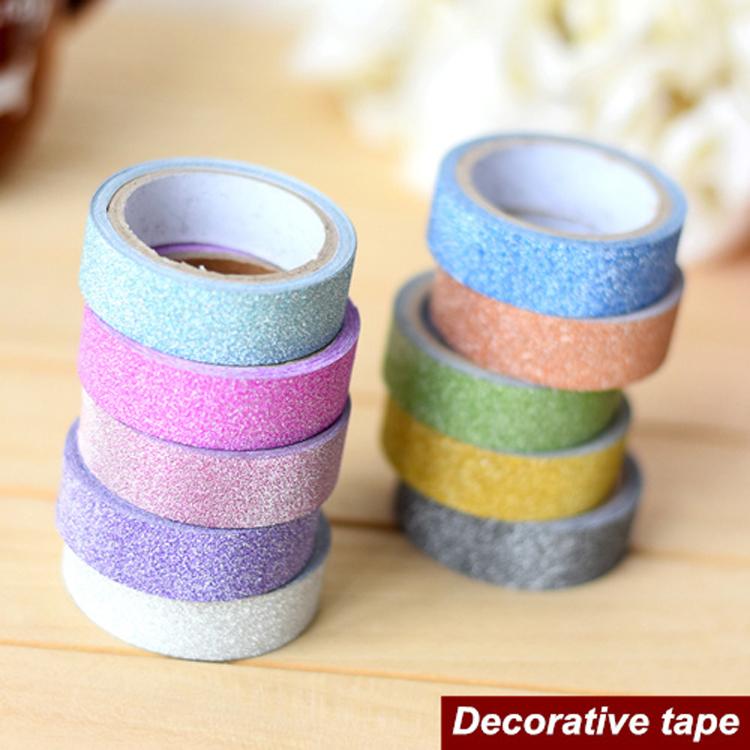 6 pcs lot gold bling decorative tape set cute adhesive