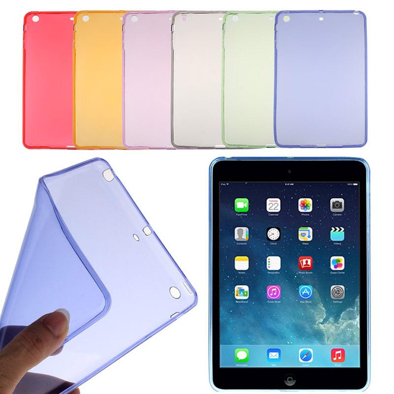 2015 Arrival Fashion Soft Gel TPU Skin Silicone Back Case Cover for iPad mini 1 2 3 Retina Case Cover Free Shipping Wholesale(China (Mainland))