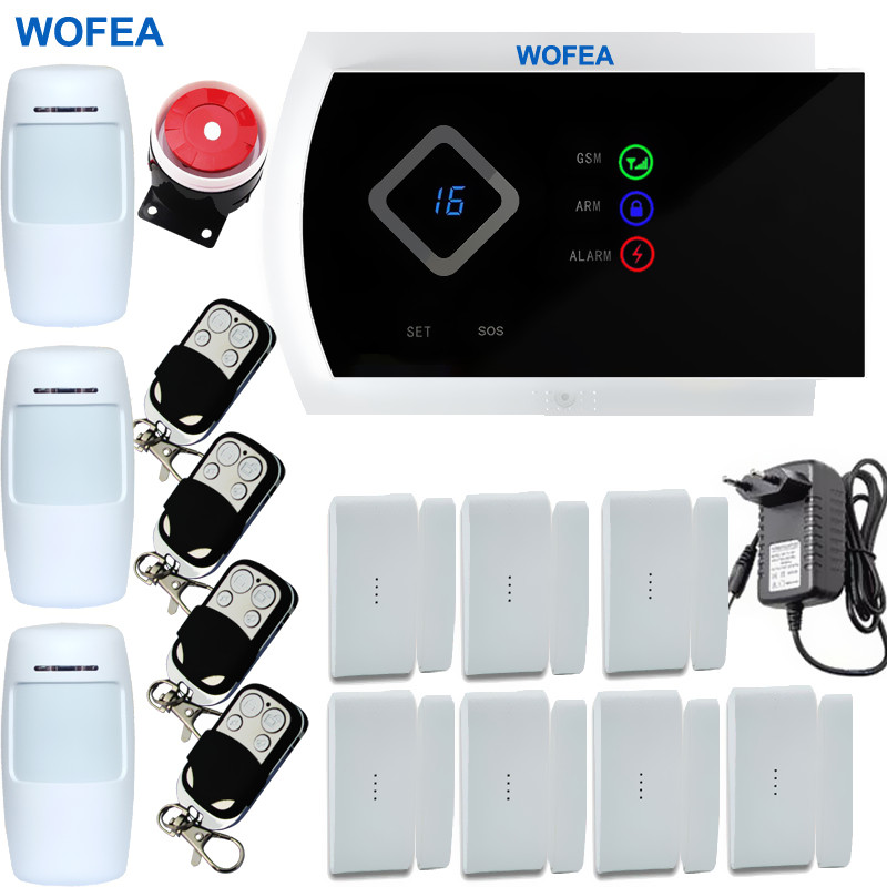 9 Language IOS/Android APP 99 Wireless and 2 Wired zones Smart Home Security GSM Alarm system(China (Mainland))