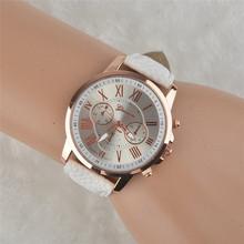 Quartz-Watch 2015 Fashion Watch Women Gold Relogio Feminino Leather Band Analog Quartz Watch Casual Watches Free Shipping(China (Mainland))