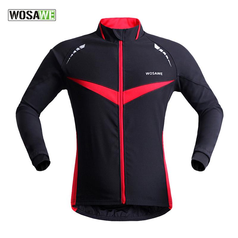 Здесь можно купить  WOSAWE Winter Autumn Windproof Bicycle Cycling Jacket Long Sleeve Jersey Clothing Wear Reflective Outdoor Running Bike Wind Coat  Спорт и развлечения