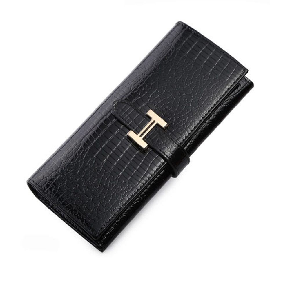 Free shipping Elegant Women s Leather Purse High quality Alligator Handbags New Clutch Famous Evening Bag