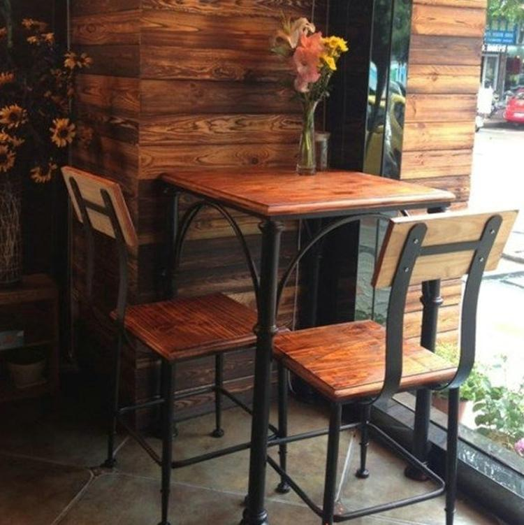 American Village restaurant dinette combination bar metal square table and four chairs two assembled Specials<br>