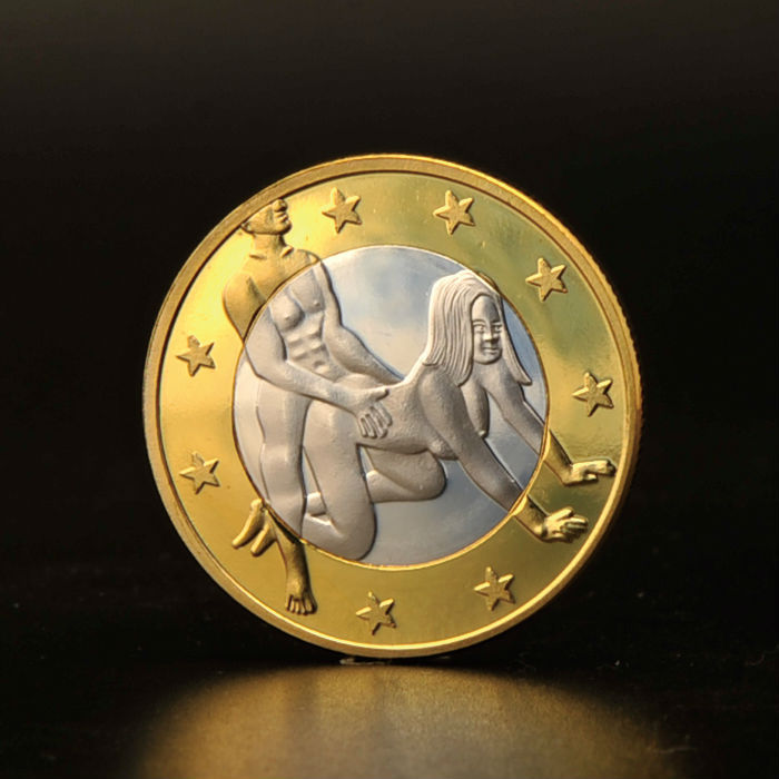 Free Shipping 2015 Sex 6 Eurp Replica Gold Coins and Bars Plastic Euro Coins(China (Mainland))