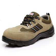 Steel Toe Men/women Safety Work Boots For Outdoor Hunting Hit-and Anti-baotou Real Leather Breathable Electrician Rubber Shoes