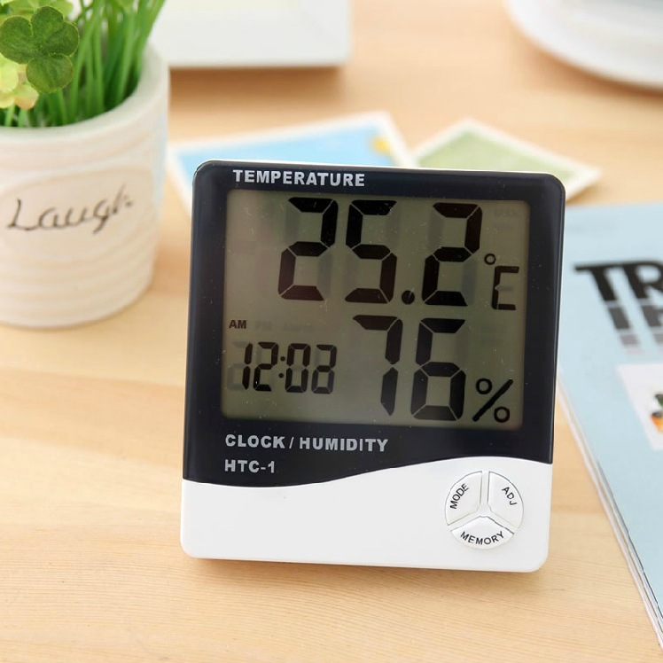 Electronic 2015 New LCD Digital Temperature Tester Wireless Thermometer Hygrometer Temperature Humidity Meter Clock w/ Magnetic(China (Mainland))