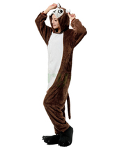 New Brown Monkey Couple Winter Kigu Full Sleeve Hoodie Jacket Pajamas Pyjamas
