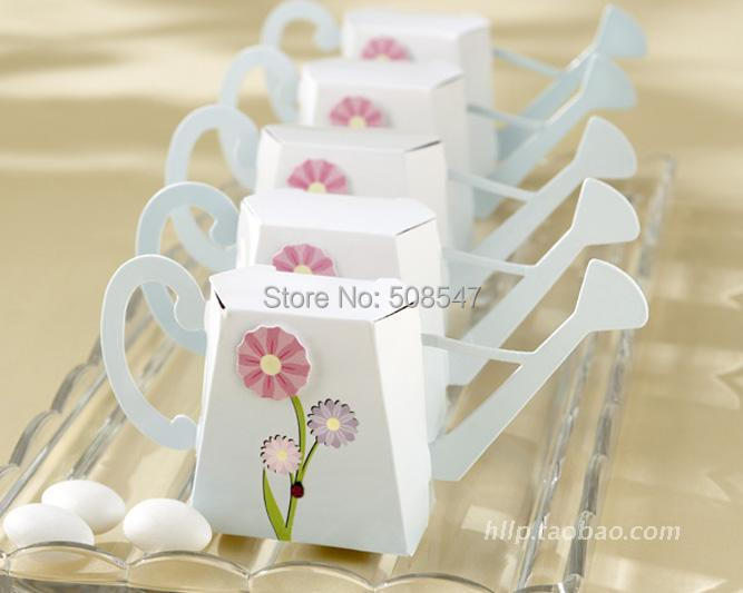 baby box 100pcs cute watering can sprinkling pot sprayer Wedding Favor Boxes gift box candy box(China (Mainland))