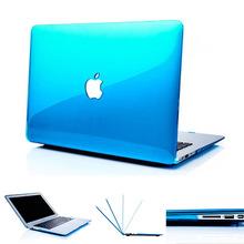 NEW Crystal Transparent case For Apple macbook Air Pro Retina 11 12 13 15 laptop bag for macbook Air 13 case cover Cutout Logo(China (Mainland))