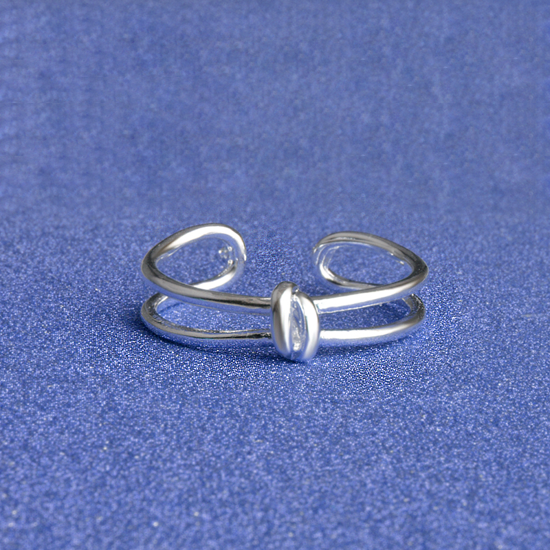 Low Price Popular Simple Curved Design 925 Sterling Silver Rings For Men And