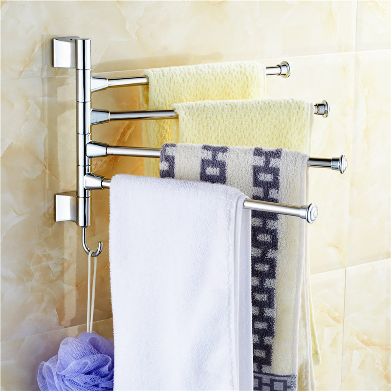 On Discount Stainless Steel Towel Bar Rotating Towel Rack Bathroom Kitchen Towel Polished Rack Holder Hardware Accessory PTSP(China (Mainland))
