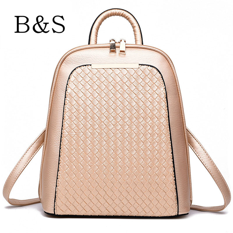 Luxury PU Leather Student School Bags 2016 Fashion Women Backpack High Quality Female Shoulder Bag Schoolbag Bolsa Saco 8 Colors(China (Mainland))