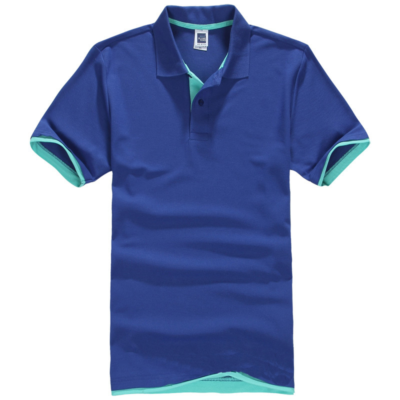 men polo shirts 2015 cheap polo shirts for men polo shirt brands Tops 100% Cotton men's solid color short-sleeved lapel polo(China (Mainland))