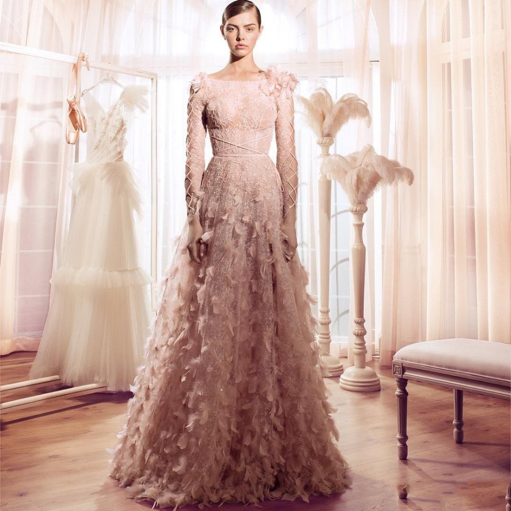 Blush Wedding Dress With Feathers : Feather wedding gowns promotion for promotional