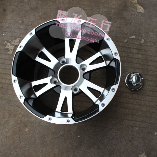 Фотография Four-wheeled vehicle modification accessories Karting ATV 12-inch aluminum wheels wheels rims blade section