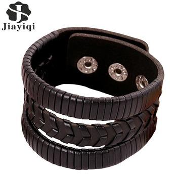 Ручной работы натуральная кожа браслеты марка панк широкий браслеты манжетного типа ...