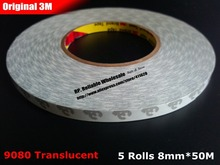 Buy Promote! 5 rolls (8mm*50M) 3M 9080 Double Adhesive Tissue Tape, Electronic Bond Solution LED Strip, Lighting, Keyboard Film for $32.78 in AliExpress store