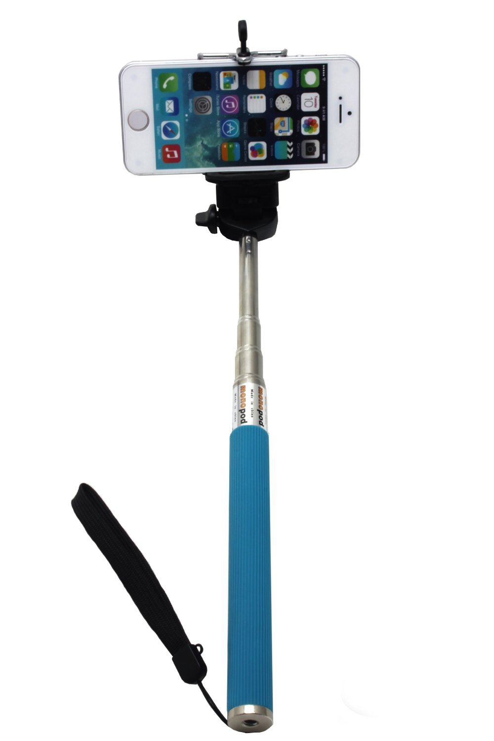 New Selfie stick + handset border blue Mobile Phone Holders & Stands for Iphone and Samsung(China (Mainland))