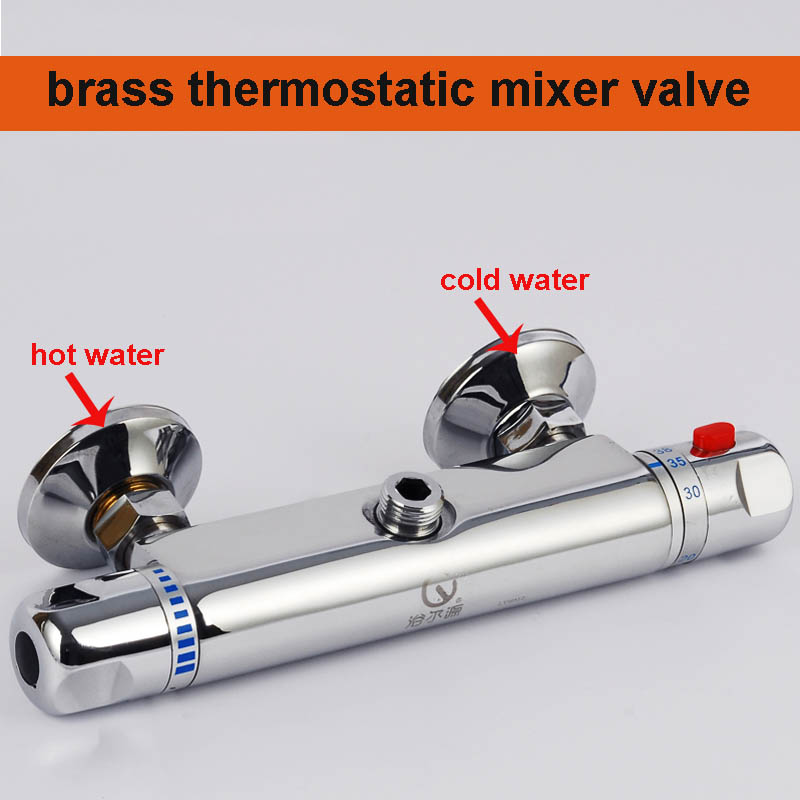 Free Shipping Bath Thermostatic Faucet Concealed Mixer Valve Bathroom Taps Shower Mixer Sets Brass HH-003 Retail-Wholesale(China (Mainland))