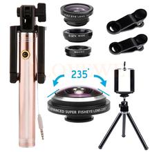 Buy 235 degrees Fish eye Lens Wide Angle Macro Fisheye Lentes iPhone 5 5s 6 6s 7 Xiaomi Huawei Universal Clip Mobile lenses Kit for $13.89 in AliExpress store