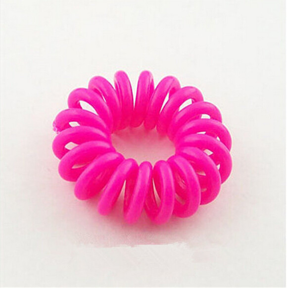1 Pcs Girls Elastic Hairband Telephone Line Gum Hair Ropes For Girl candy color fashion Tie Hair Accessory Maker Tools(China (Mainland))