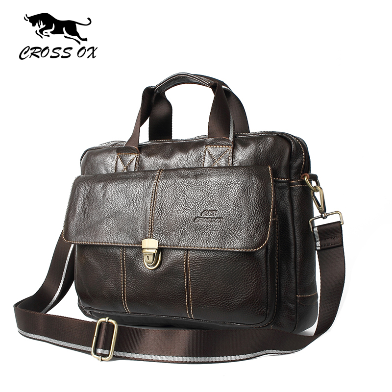 CROSS OX Genuine Leather Bag Casual Men Handbags Cowhide Men Crossbody Bag Men's Travel Bags Laptop Briefcase Bag for Man HB316F(China (Mainland))