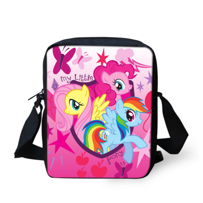 Super cute small cartoon bag my little pony shoulder school bag for girls,horse school bag mochila infantil children school bag(China (Mainland))